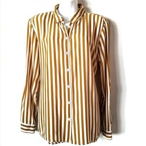 Velvet Heart yellow striped button up blouse